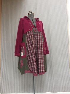 Upcycled Clothing Sweatshirt Hoodie Dress  by SimplyCathrineAnn