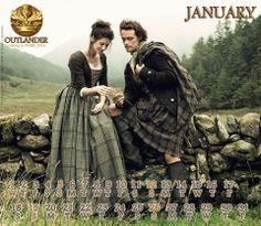 Outlander Calendar 2014: January with Jamie&Claire