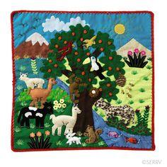 Textiles - Tree of Life Arpillera   SERRV