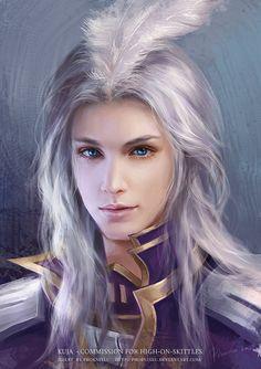 KUJA by *phoenixlu - Final Fantasy IX      I've never seen Kuja so...pretty. LOL.