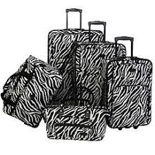 6d0edbb96c American Flyer Black   White Zebra Five-Piece Suitcase Set