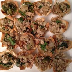 Turkey caramelized onion and spinach wonton bites. #cleaneating #bonappetit #foodie