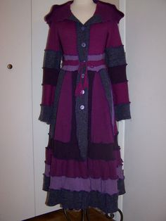 Purple Passion Upcycled sweater coat