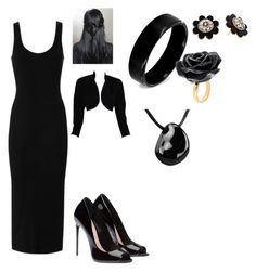 """""""Black prom"""" by ihascupquakefan ❤ liked on Polyvore featuring Enza Costa, ESCADA, West Coast Jewelry, Kate Spade and Nach Bijoux"""