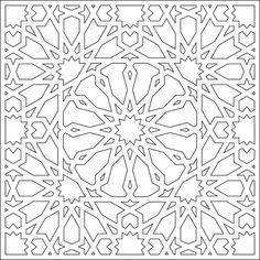 Islamic Motifs, Islamic Art Pattern, Arabic Pattern, Pattern Art, Geometric Coloring Pages, Pattern Coloring Pages, Geometric Drawing, Geometric Art, Motif Arabesque