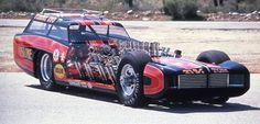Tommy Ivo's Buick Riviera Wagonmaster, the first car to be banned by the NHRA Vintage Racing, Vintage Cars, 2007 Mustang, Funny Car Drag Racing, Funny Cars, Yellow Car, Drag Cars, Car And Driver, Car Humor