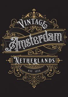 City of Amsterdam, Holland travel decal. These vintage travel design will make a great addition to your RV / Airstream / Winnebago / Travel Trailer / motorhome / westfalia / pickup / luggage / thule / dog / baby - The awesome can go anywhere! 90+ products with this design, get yours.  #amsterdamgift #vintagedesign #vintagedecal #amsterdamdecal #cityofamsterdam #netherlands #nederlands #tshirtdesign Amsterdam Holland, Amsterdam City, Initial Art, Dog Baby, Vintage Lettering, Travel Design, Letter Logo, Vintage Travel, Seals