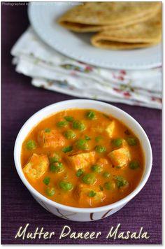 Mutter Paneer (Paneer Peas Masala) | Paneer Recipes