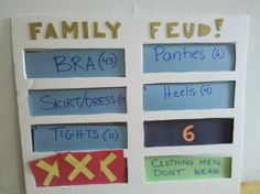 how to make a family feud game board