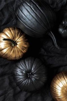 Black & Gold Pumpkins
