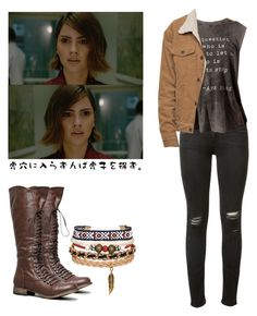 """""""Malia Tate - tw / teen wolf"""" by shadyannon ❤ liked on Polyvore featuring rag & bone and Breckelle's"""