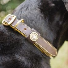 """The Sunday Driver"" Collar - Deerskin Lined- soft and luxurious!"
