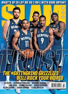 73a453f47a8 SLAM Memphis Grizzlies Marc Gasol, Mike Conley Jr, Rudy Gay, Tony Allen and  Zach Randolph appeared on the cover of the issue of SLAM Magazine