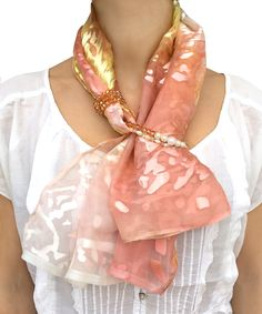This item is unavailable – Scarf Ideas 2020 Scarf Necklace, Scarf Jewelry, Fabric Jewelry, Ways To Wear A Scarf, How To Wear Scarves, Bijoux Design, Diy Scarf, Turbans, Silk Scarves