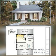 Cabin House Plans, Small House Plans, 1 Bedroom House Plans, Small Farmhouse Plans, Small Floor Plans, Square House Plans, Tiny Cabin Plans, Home Design Floor Plans, Small Guest Houses