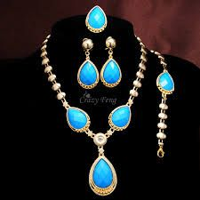 Image result for womens blue jewelry