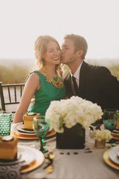 40 Trendy Emerald Green Wedding Ideas   Weddingomania.... @Laura Jackson