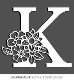 Initial Logo, Embroidery Alphabet, Floral Letters, Flower Crafts, Paper Cutting, Paper Flowers, Ballerina, Paper Art, Origami