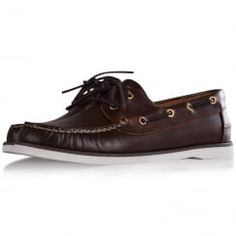 Thomas Finley Brown Leather Boat Shoes. Available now at www.brother2brother.co.uk