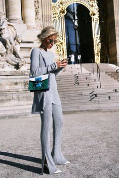 All grey outfit | 40plusstyle.com