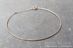 bracelet jonc feidt bijoux or rose