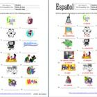 18 Spanish Class Subjects / Classes Vocabulary IDs - Use as a homework assignment, introducing and reviewing vocabulary or have students cut and use as flashcards.