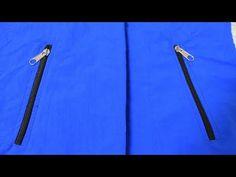 COMO HACER BOLSILLO CON CIERRE ! TIPS DE CONFECCION - YouTube Zipper Tutorial, Tutorial Sewing, Sewing Tutorials, Sewing Projects, Sewing Courses, Sewing Basics, Sewing Clothes, Pocket, Pattern
