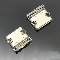 2pcs USB 3.1 Type-C Connector 24 Pin Receptacle Right Angle Type C PCB SMT Dual Row Tab Female Socket Support Terminal TH 3A. Yesterday's price: US $4.09 (3.37 EUR). Today's price: US $4.09 (3.37 EUR). Discount: 21%.