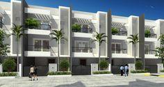 modern row house elevation - Google Search