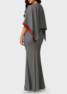 V Neck High Waist Printed Maxi Dress on sale only US$34.90 now, buy cheap V Neck High Waist Printed Maxi Dress at liligal.com