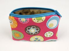 Coin Pouch - Gift Card Holder - Business Card Holder - Fabric Mini-Wallet - READY TO SHIP by The Daisy Box Girls on Etsy