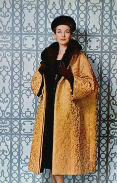 Christian Dior Ensemble with a Mink-Lined Coat and Hat, photo by Georges Saad, 1958