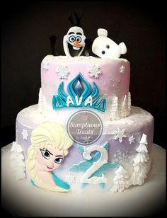 Frozen Elsa & Olaf Cake ~ Custom-Made-To-Order Cakes & Desserts Edible Art ~ www.sumptuoustreats.com