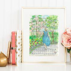Jesus Loves Me  Hymn  Watercolor painting  Print & by NearToHymn