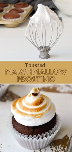 This easy homemade marshmallow frosting tastes just like marshmallow fluff! This recipe is a fun and simple alternative to buttercream, and this step-by-step tutorial will show you how to make perfectly fluffy frosting that doesn't get grainy. Icing Recipe For Cake, Marshmallow Frosting Recipes, Homemade Frosting, Recipes With Marshmallows, Homemade Marshmallows, Homemade Desserts, Cupcake Recipes, Fun Desserts, Cupcake Cakes
