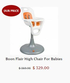 Tiny Tots Super Special Price on Boon Flair High Chair.