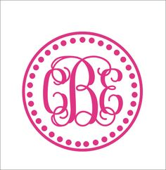 Vine Monogram Decal Circle Border Monogram por CustomVinylbyBridge, $25.00