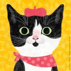 Oahjan, 8 x 8 Art Print by flora chang | HappyDoodleLand on Etsy