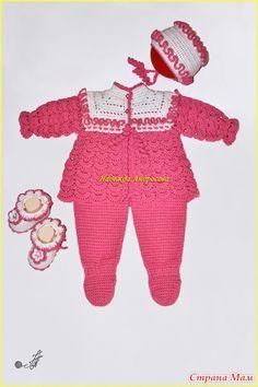 Всем привет! Семейные праздники закончились, появилось немного времени на СМ  Комплект связан на осень, на малышку, которой вот-вот предстоит родиться.  Ниточки Alize baby wool.