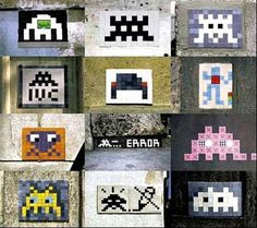 Space Invaders from Paris