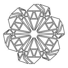 Diccionario Canalón geométrica Art Print Vintage Minimalista poligonal
