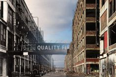 """""""Detroit Packard Plant - once industrial might; now - industrial blight""""  The Packard Plant: Then and now -- interactive comparison photos"""