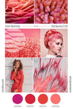 Color Quarterly - 2nd Quarter 2020 – eColorWorld Color Trends, Design Trends, Popular Colors, 2020 Design, Corals, Season Colors, Coral Pink, Stitches, Stitching