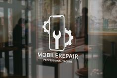 Mobile Repair Logo by tkent on Creative Market - Best deas Logo Marketing, Mobile Marketing, Mobile Phone Logo, Mobile Phone Shops, Mobile Shop Design, Electronics Mini Projects, Iphone Repair, Luxury Logo, Shop Logo