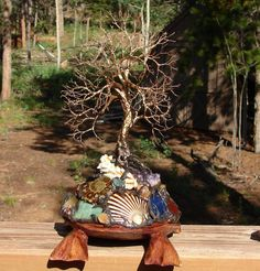 Wire Tree Of Life art sculpture and The Sea by CrowsFeathers, $220.00