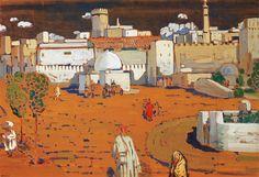 Wassily Kandinsky - ville arabe, 1905.