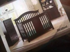 stratford crib review - dark wood