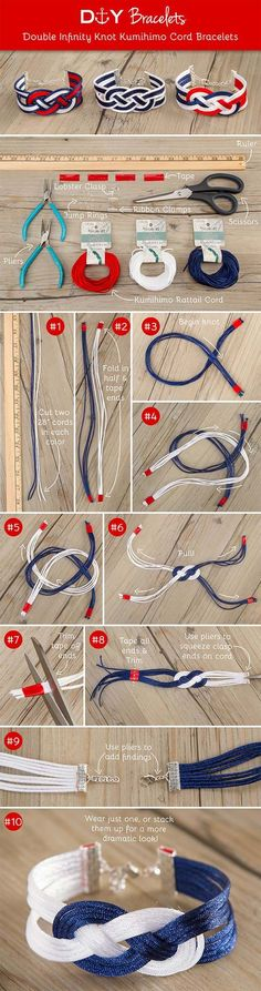 Crafts to Make and Sell - Double Infinity Knot Bracelet - Easy Step by Step Tutorials for Fun, Cool and Creative Ways for Teenagers to Make Money Selling Stuff - Room Decor, Accessories, Gifts and More http://diyprojectsforteens.com/diy-crafts-to-make-and-sell