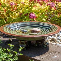 Wildlife World grønt fuglebad i keramik Ceramic Bird Bath, Ceramic Birds, Homemade Bird Houses, Bird Bath Garden, Garden Birds, Garden Water, Glass Garden, Bird Aviary, Grain Of Sand
