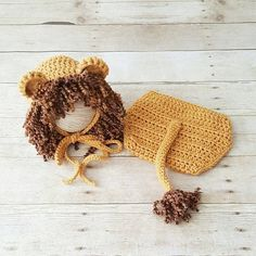 Crochet Baby Lion Bonnet Hat Beanie Diaper Cover Set Wizard of Oz Cowardly Lion Infant Newborn Photography Photo Prop Baby Shower Gift Available from Newborn to 24 Months. Crochet Baby Blanket Beginner, Crochet Baby Bonnet, Crochet Lion, Crochet Baby Cocoon, Newborn Crochet, Baby Knitting, Foto Baby, Diaper Covers, Baby Costumes